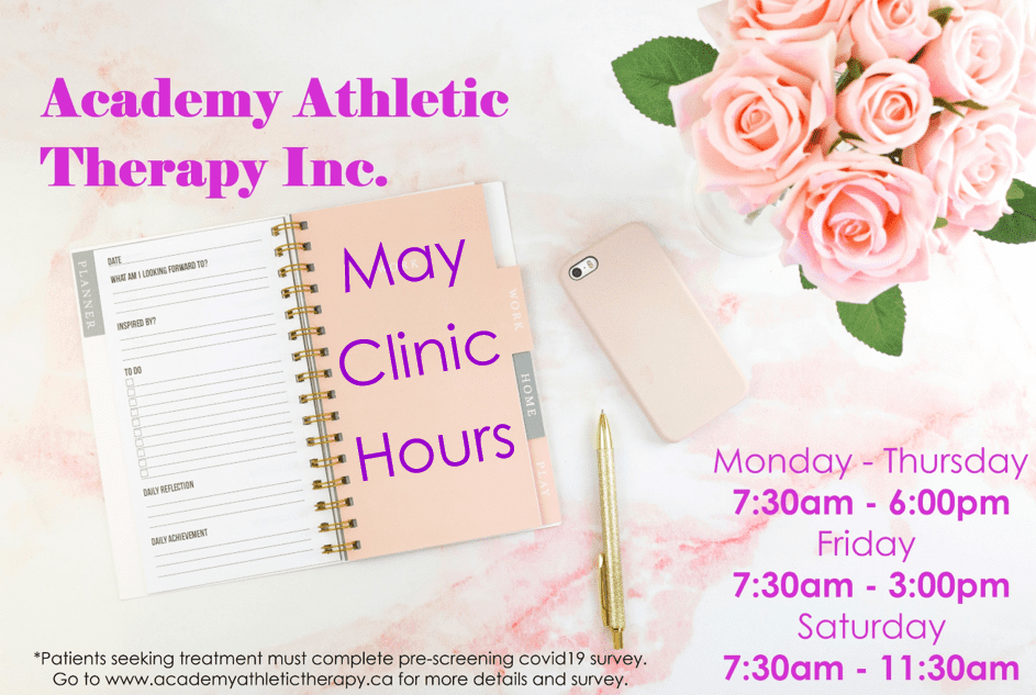Academy Athletic Therapy Inc., Winnipeg, MB, covid19 update, clinic open, physical therapy