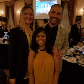 2017 Pam Am Clinic Foundation Fire & Ice Gala, darcy Oake, melissa deonaraine, Fort Garry Hotel, Winnipeg Manitoba